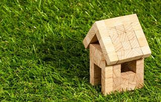 modèle maison sur gazon