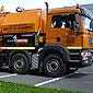 camion orange pour débouchage