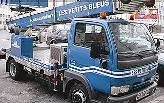 Camion de déménagement Les Petits Bleus
