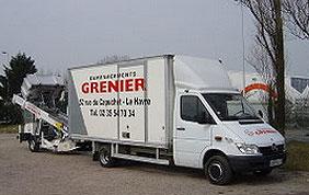 camion de déménagement Grenier