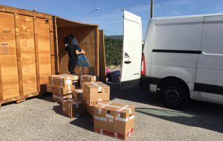 boxes de stockage pour déménagement