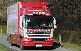 Camion de déménagement de Guy Magermans