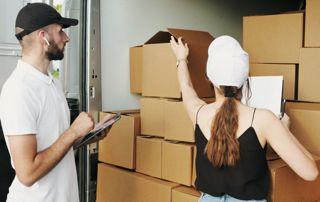 cartons camion déménagement