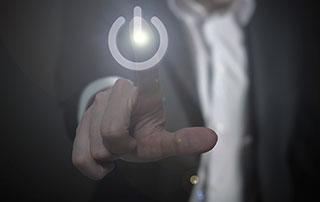 bouton allumage électricité