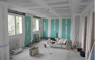 Pose de cloisone et faux plafond
