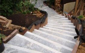 Escalier extérieur terrasse