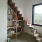 escalier demi-tournant en bois