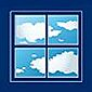 illustration fenêtre carrée nuages