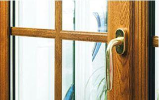 Poignée de porte-fenêtre en bois