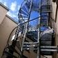 escalier extérieur fer forgé