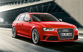 Audi A4 break rouge