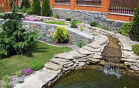 Aménagement d'étangs et fontaines