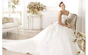 robe de mariée bustier avec traîne