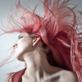 photo d'une femme aux cheveux roses