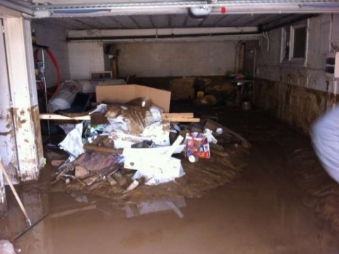dégat des eaux suite à une inondation