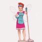 Dessin femme de ménage
