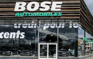 devanture du garage Bose Automobiles