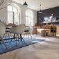 Salle à manger plancher parquet bois