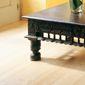 parquet bois clair et table basse de salon