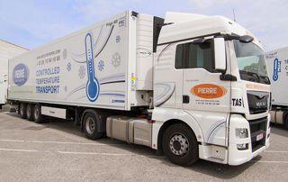 camion avec contrôle des températures