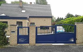 portail bleu foncé