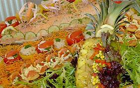 saumon et légumes