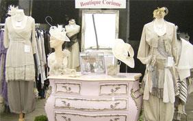 boutique Corinne présentation des vêtements