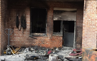 facade après incendie