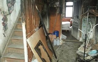 maison délabrée après incendie