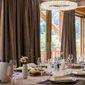 Rideaux marrons salle à manger