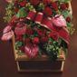 Cercueil avec fleurs