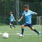 Cours de football sur pelouse