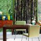 tenture verte et décoration intérieure