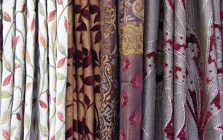rideaux colorés