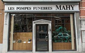 devanture pompes funèbres mahy à schaerbeek