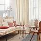 intérieur classique rideaux beiges