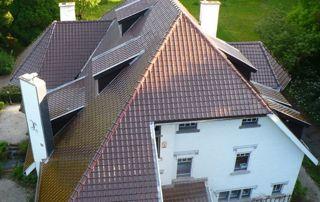 Villa avec toiture neuve