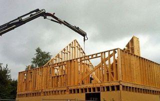 charpente en construction