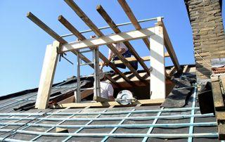 Réfection de toiture et création de fenêtre de toit