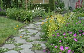 aménagement allée jardin et parterres