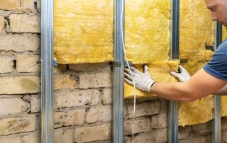 Isolation laine de verre murs intérieurs