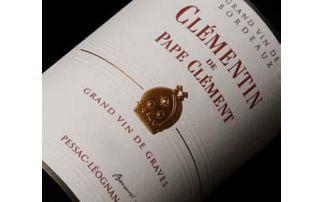 étiquette vin Pape Clément