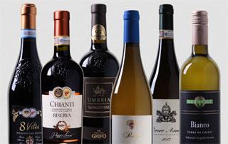 assortiment de vins italiens