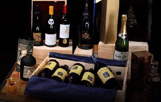 coffrets de différents vins