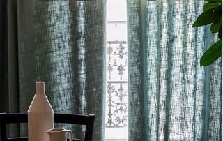 rideaux en lin verts