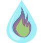 Logo VDK chauffage flamme