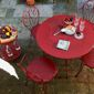 Meubles de jardin en métal rouge